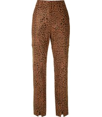 eva onça leather trousers - brown