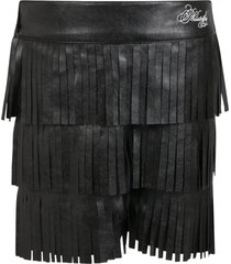 philosophy di lorenzo serafini black short for girl with logo