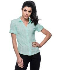 camisa intens manga curta algodão verde