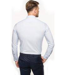 koszula bexley 2662 długi rękaw custom fit niebieski