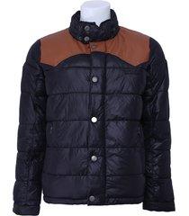pepe jeans winterjas - fletcher - zwart / bruin