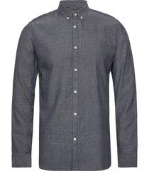 elder ls twill shirt - gots/vegan overhemd casual grijs knowledge cotton apparel