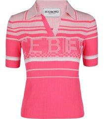 iceberg pink polo t-shirt