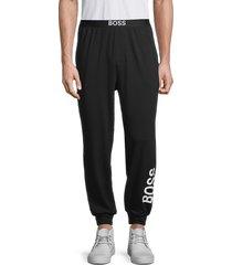 boss hugo boss men's idetity logo lounge pants - black - size s
