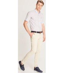 pantalón contraste bolsillo beige  38