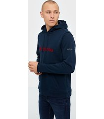 columbia csc basic logo ii hoodie tröjor navy