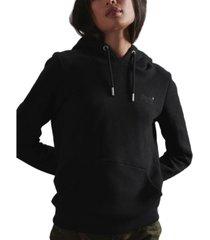 superdry women's orange label overhead hoodie
