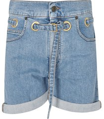 philosophy di lorenzo serafini belted denim shorts