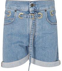 philosophy di lorenzo serafini belted denim shorts
