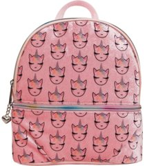 omg! accessories whimsical unicorn printed velvet mini backpack
