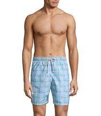 collection plaid swim trunks