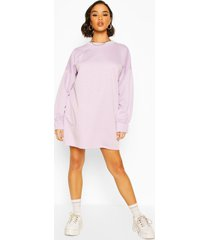 oversized sweatshirt jurk, lila
