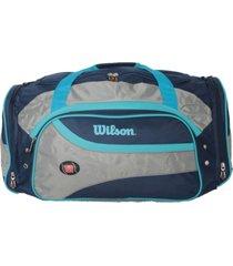 bolsa esportiva wilson wtis13778 azul/cinza - kanui