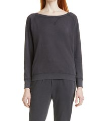 ba & sh rostro faded sweatshirt, size medium in anthracite at nordstrom