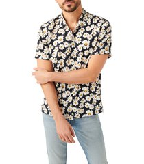 7 for all mankind daisy print short sleeve button-up shirt, size medium at nordstrom