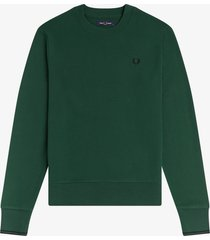 fred perry m7535 crewneck sweater 761 ivy green -