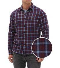 camisa twill morado gap