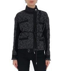 asymmetric tweed jacket