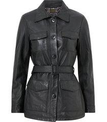 skinnjacka michelle midi leather jacket