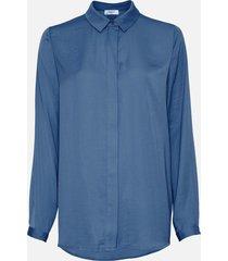 moss copenhagen 14358 blair seasonal polysilk shirt blauw