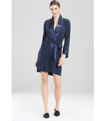 jersey essentials silk sleep & lounge bath wrap robe, women's, size s, josie natori