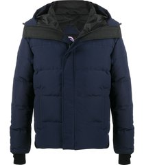 canada goose padded winter coat - blue