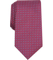 tasso elba men's grid silk tie, created for macy's