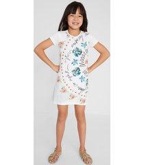 cotton t-shirt dress - white - 11/12