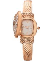 charter club women's rose gold-tone cuff bracelet watch 25mm