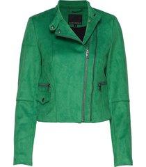 vegan suede biker jacket läderjacka skinnjacka grön banana republic