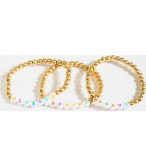 blessed brave breathe bracelet set - multi