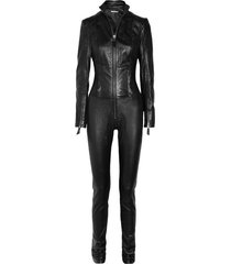 goldens leather women leather jumpsuit real leather catsuit leather romper j-51
