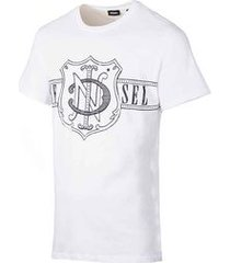 camiseta diesel t-diego-mw branca
