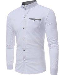 tasche alla moda casual elegante slim camicia designer colletto per uomo