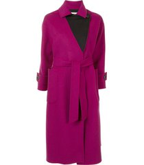 onefifteen mid-length belted coat - pink