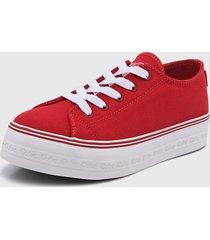 zapatilla roja coca-cola shoes ella canvas
