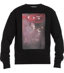 off-white caravaggio printed sweatshirt
