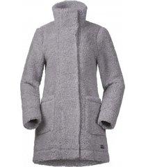 bergans jas women oslo wool loosefit grey mel-s
