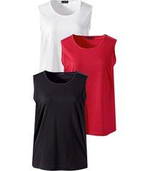 topjes per 3 stuks m. collection rood::zwart::wit