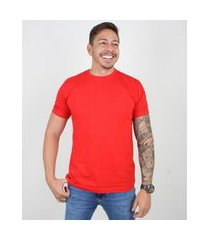 camiseta basica manga curta masculina lucas lunny lisa vermelho .