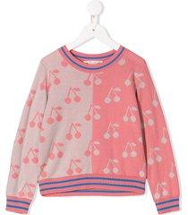 bonpoint cherry print sweater - pink