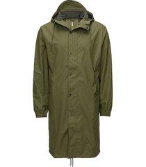 fishtail parka regenkleding groen rains