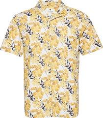 akleo ss poplin aop kortärmad skjorta gul anerkjendt