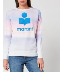 isabel marant étoile women's milly multi sweatshirt - blue/pink - fr 34/uk 6