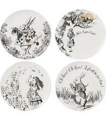 talerz 4 szt. alicja w krainie czarów porcelana