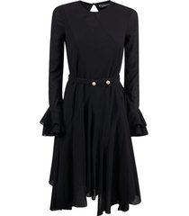 j.w. anderson godet hem belted dress