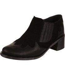 botineta negra rosevelt  shoes bianca texana