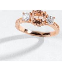 ada cz pronged ring - rose/gold