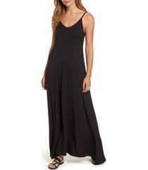 loveappella maxi dress, size x-large p in black at nordstrom