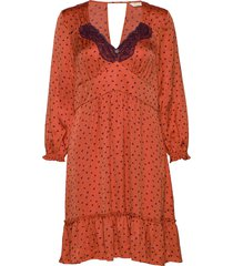 hello new love dress jurk knielengte oranje odd molly